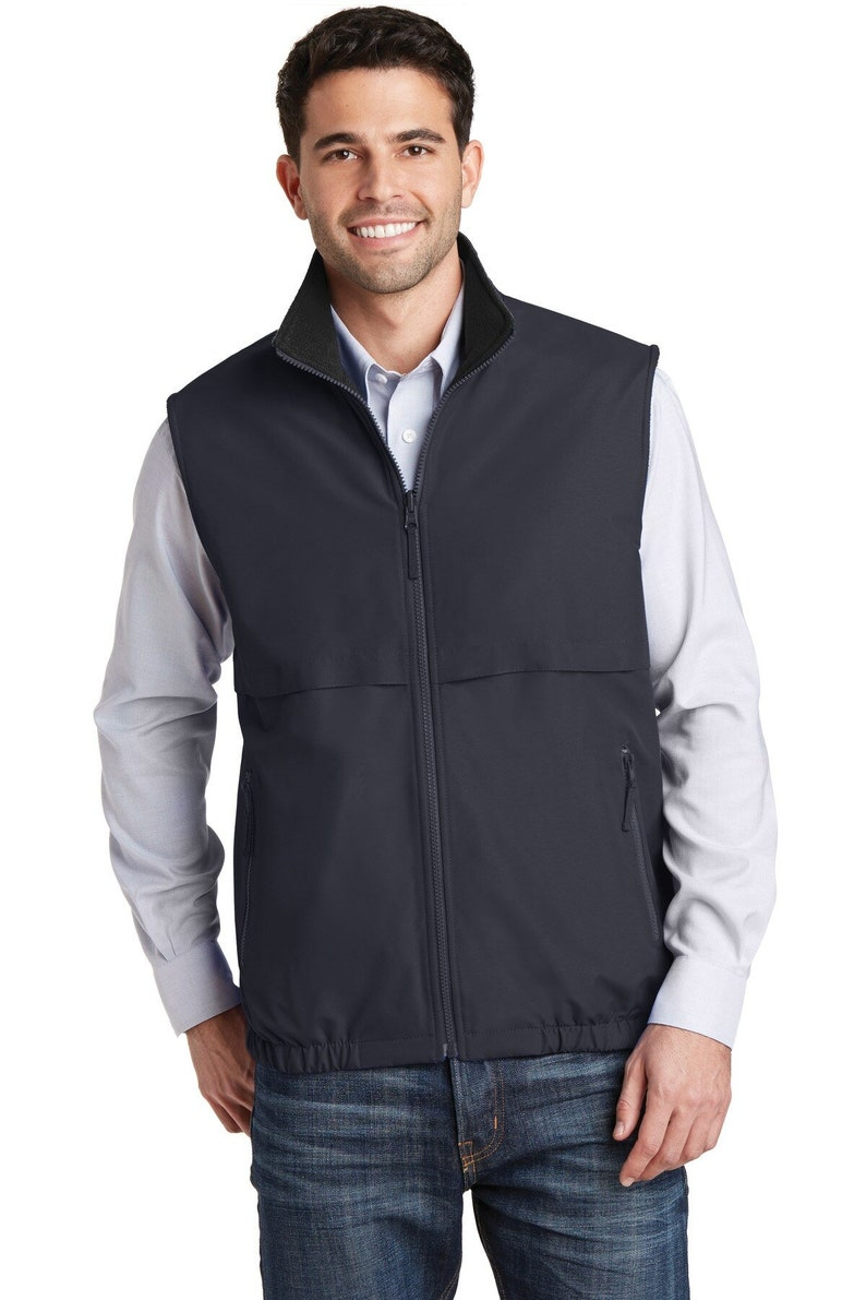 Personalized with Custom Design or Company Logo Custom Embroidered Port Authority Reversible Charger Vest J7490