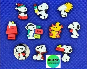 SNOOPY CHRISTMAS Authentic JIBBITZ Shoe Charms 3
