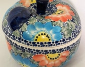 Rare UNIKAT Pattern Polish Stoneware Pottery by Manufaktura Apple Baker