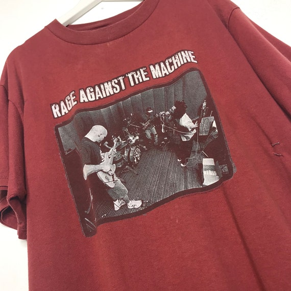 1997 Faded Repaired Rage Against The Machine Tee