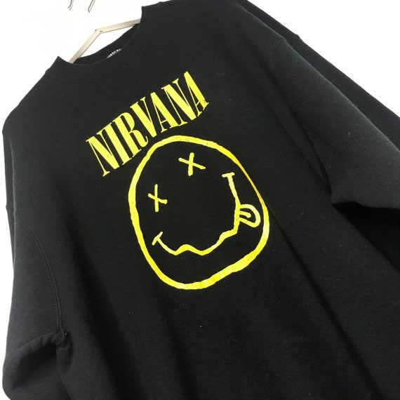 Early 1990s Nirvana Smiley Face Sweatshirt