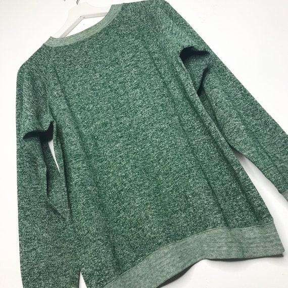1970s Heather Green Blank Sweatshirt