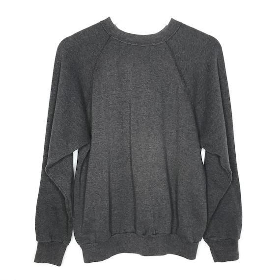 1980s Faded Black Grey Sweatshirt