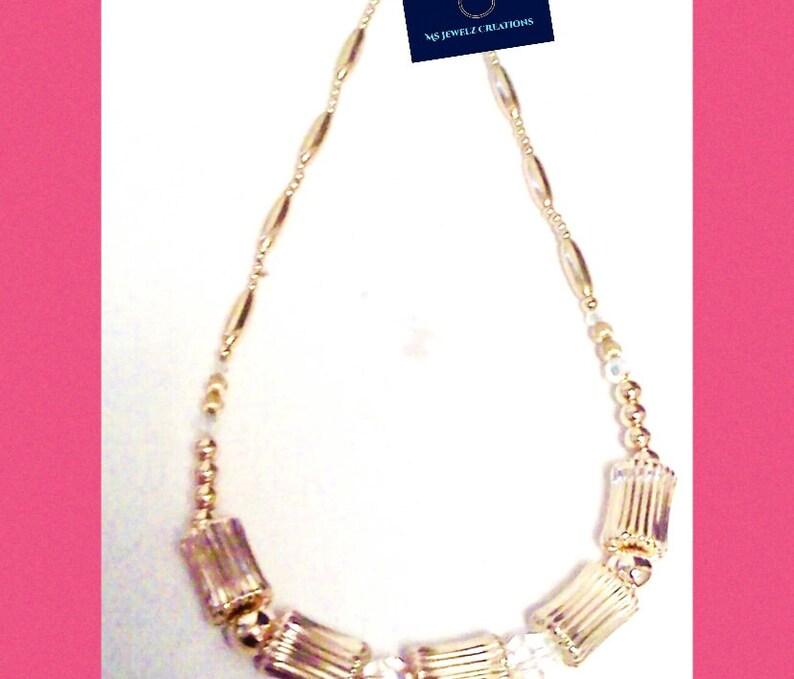 14kt gold filled beaded handmade necklace