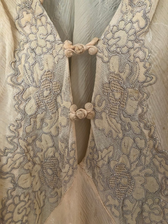 Antique embroidered silk nightdress
