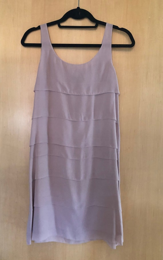 Vintage Lilac Tiered Eileen Fisher Silk Shift Dres