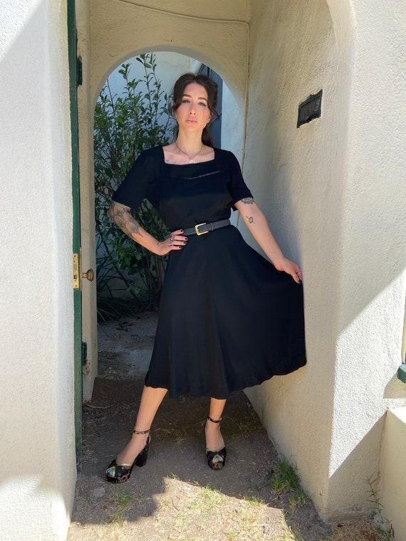 40's back rayon dress - image 1