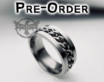 3 bands ring meditation ring Wedding band Sterling silver spinner ring 220 Size 7 ready to ship fidget ring
