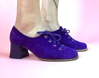 60's Purple Suede Shoes