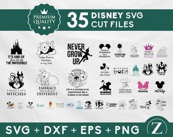 35 Disney SVG bundle, Disney SVG pack, Disney SVG shirts, Mickey Mouse svg bundle, Pooh svg bundle, Disney svg files for cricut