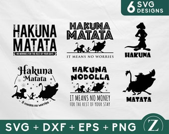 Hakuna matata bundle svg, lion king bundle svg, Disney bundle svg, x-files, dxf, laser cut, disney svg files for cricut