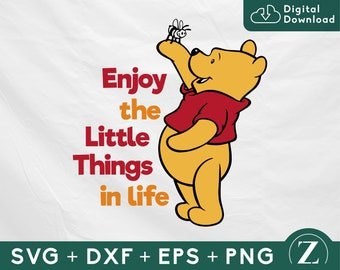 Winnie the Pooh enjoy the little thing is life SVG, Pooh SVG, Winnie the Pooh quotes, Pooh shirt svg, Disney svg files for cricut