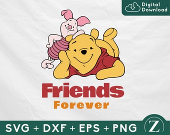 Pooh and Piglet Friends Forever SVG, Pooh and Piglet SVG, Winnie the Pooh svg file, Pooh shirt svg, Pooh cut file, Disney svg files cricut
