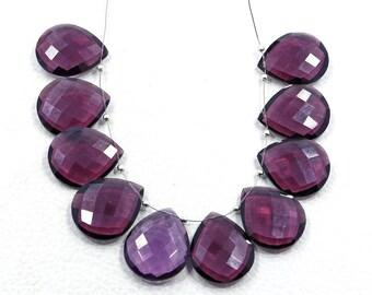 Faceted polish gemstone pink Amethyst quartz pear shape faceted beads 10 pieces pink Amethyst quartz gemstone drilled stone size 20X25 MM