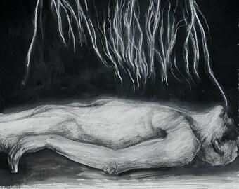 Last Breath. Mixed media painting