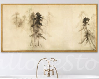 Pine Trees Hasegawa Tōhaku Azuchi Momoyama period 16th century, Hasegawa Tohaku, Japanese Art, Asian Art, Gallery Quality Art, Reproduction