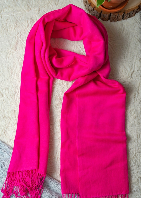 Hot pink super soft scarf