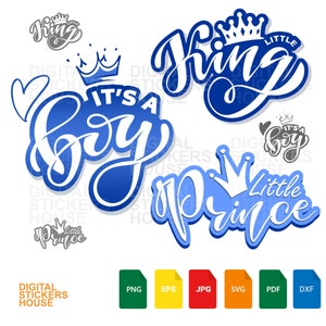 Clipart Instant Download Blue Little Prince Carriage Coach Blue /& Gold African American Baby Boy