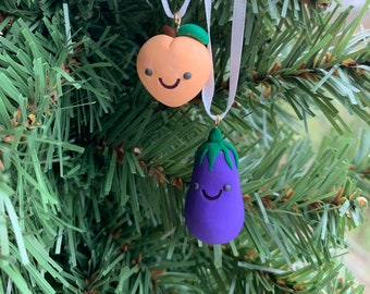 I love your eggplant /& peach keychain set