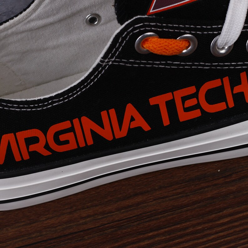 Virginia Tech Hokies Low Top Shoes Collegiate Football Team Sneakers NCAA Teams Shoes Best Gifts For College Football Fans