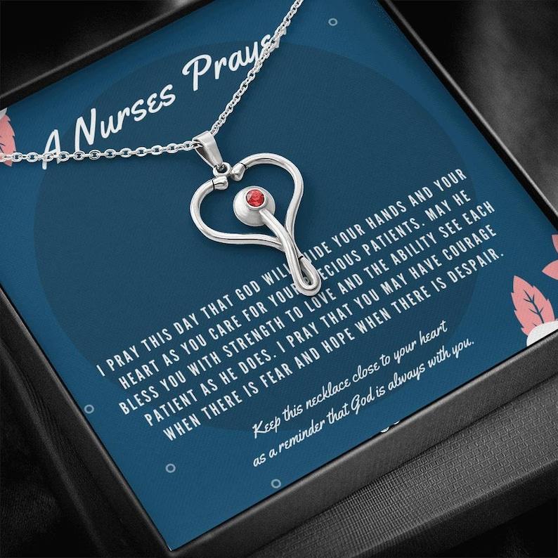 Nurse/'s Prayer Necklace I Nurse Gift I Nurse Graduation Gift