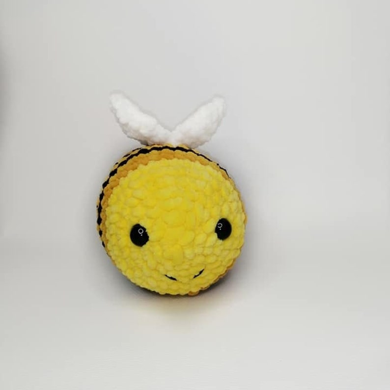 Bumble bee plush  Baby rattle toy Bee Montessori baby toy Crocheted rattle