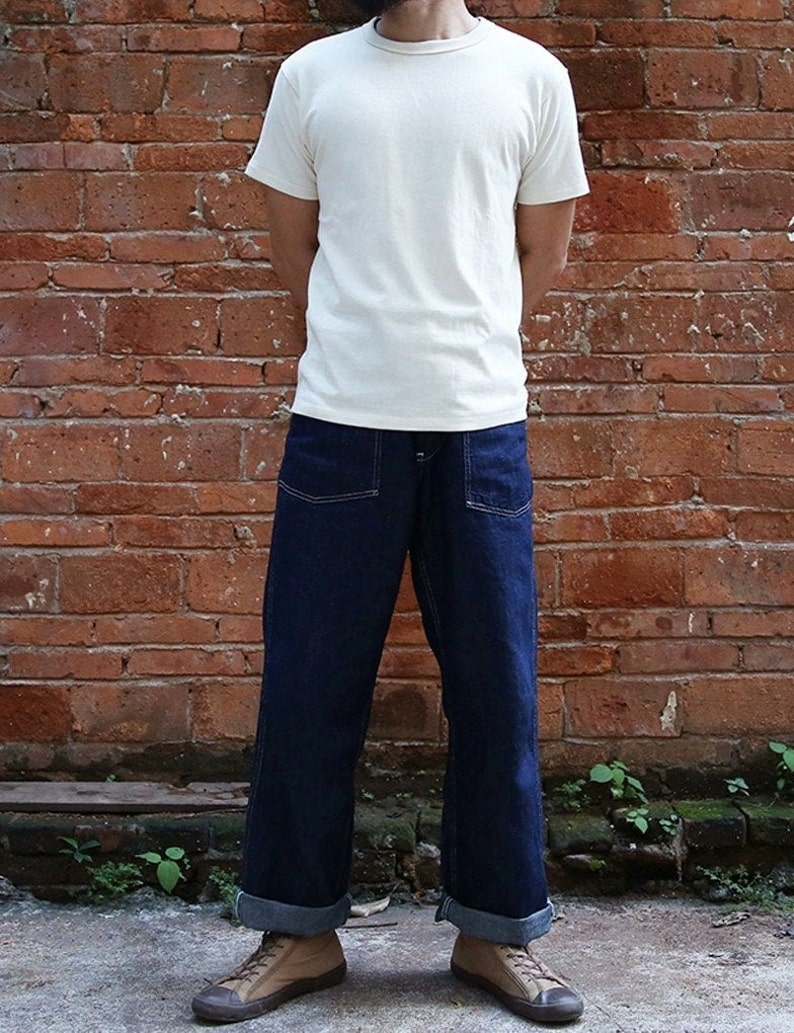 Mens Vintage Shirts – Casual, Dress, T-shirts, Polos Bronson Tubular T-Shirts Heavyweight Short Sleeve Crew Neck Summer Mens Basic Tee $62.90 AT vintagedancer.com