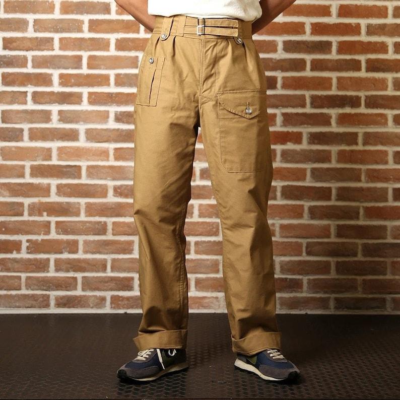 1940s Trousers, Mens Wide Leg Pants NON STOCK British Army 1943 Pattern Double Buckles Gurkha Pants Combat Trousers $116.90 AT vintagedancer.com