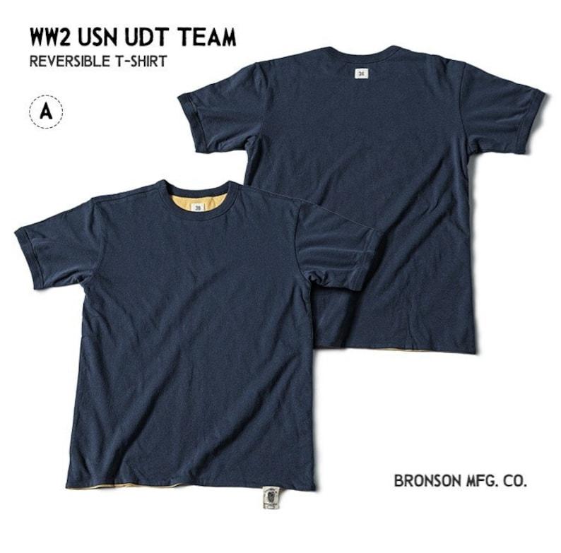 Mens Vintage Shirts – Casual, Dress, T-shirts, Polos shi021 - BRONSON WW2 Underwater Demolition Team Reversible T-Shirt Vintage Tee Menswear $104.90 AT vintagedancer.com