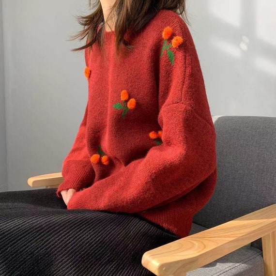 Cherry Cherry Crewneck Sweater