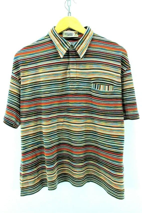 Vintage Missoni Sport Polo Shirt Size M L Oversize