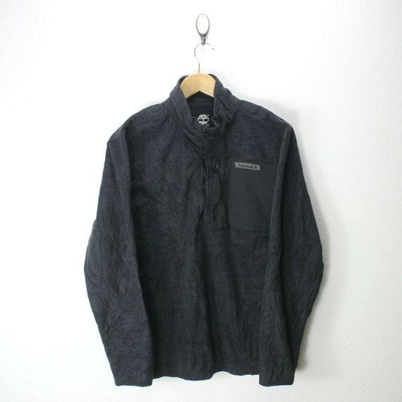 Vintage Timberland Men's Fleece Jacket in Black Si