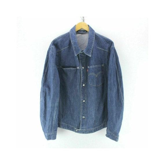 Vintage Levi's Men's Denim Engineered Jacket Size