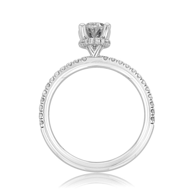 3.00CT Oval Cut Moissanite Engagement Ring Promise Ring 14K Gold Anniversary ring Engagement Ring