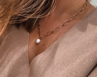 The Cuco Pearl Chain - Gold Chain Necklace - Loft the Label