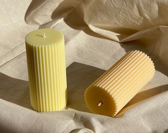 Ribbed Pillar Candle - Loft the Label