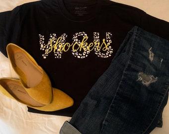 Wichita state university cheetah print t shirt