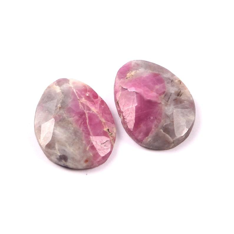 Best /& Beautiful Bio color sapphire Gemstone Loose Faceted Gemstone Earring Pair Gemstone-Gift for her-Personalised gift-Wedding gift-Gems