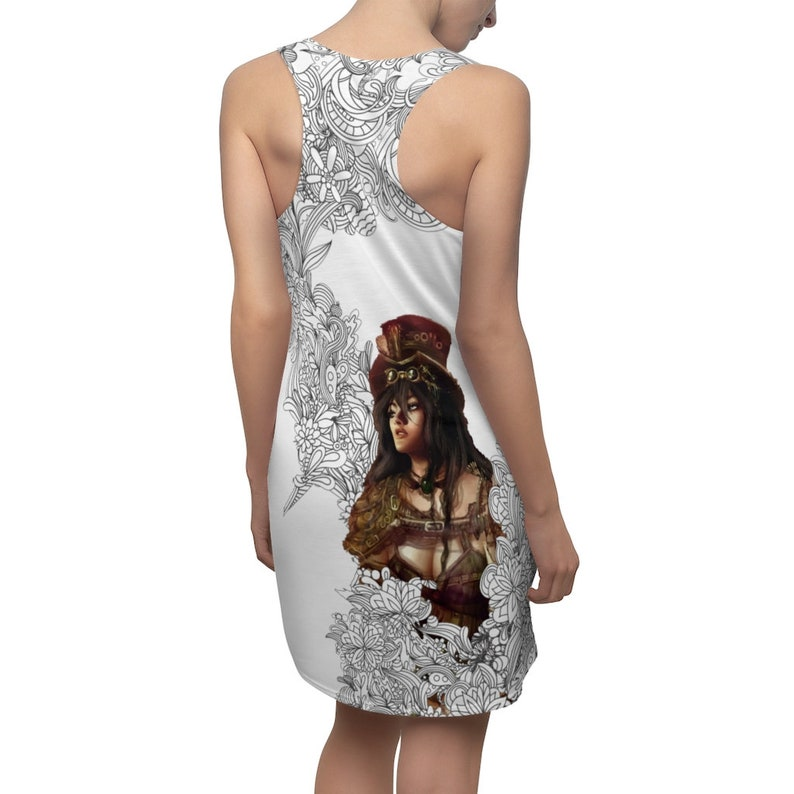 Steampunk Lookout Girl White Dress