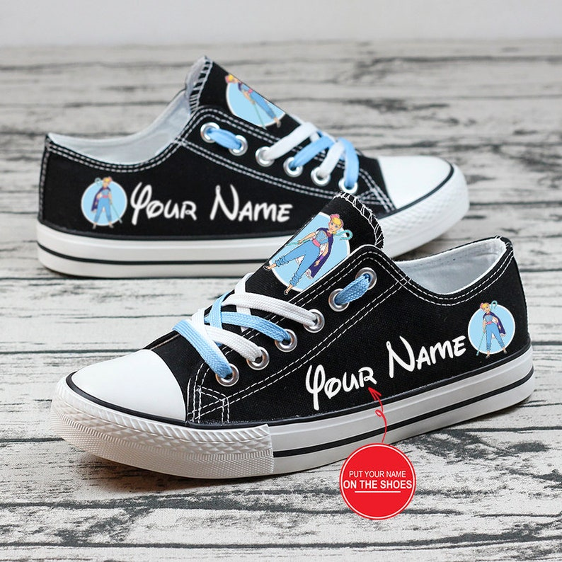 Love Bo Peep Personalized Custom Name Low Top Shoes Gift for Cartoon Lovers Birthday Gift Cartoon Sneakers