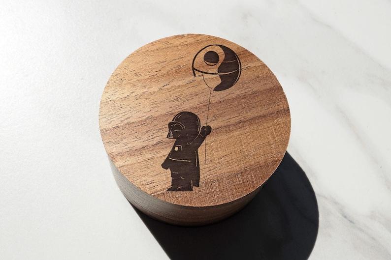 Princess Leia Han Solo Gift Moon Wedding Ring Box Star Wars Darth Vader Proposal Ring Box Death Star Empire Jewelry Box