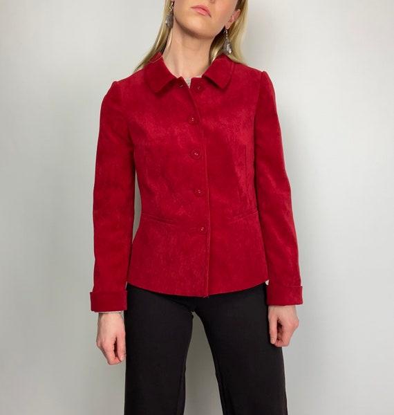 VINTAGE VIYELLA Corduroy Jacket in Red
