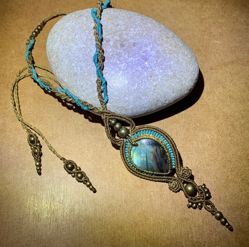 Necklace with labradorite.