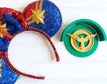 Agent Peggy Carter SSR Avengers Disney Inspired 3D Printed Wall Mickey Minnie Ear Display Holder