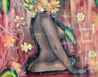 Black Fairy Original Painting