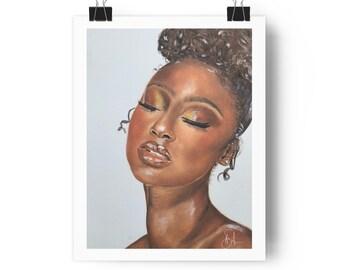 Justine Skye makeup print