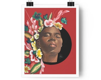 Brown Flower Girl print