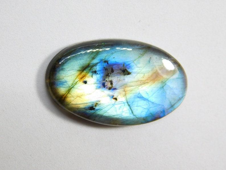 Very Rare Natural Spectrolite Labradorite gemstone Polished Labradorite Cabochon F-481 Multi Flash Labradorite Loose Gemstone 36 Cts