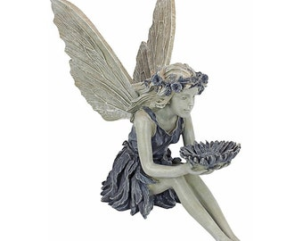 Fairy Sitting Garden Statue Ornament Decoration Resin Crafts Decor Accessories Home Landscaping Backyard Lawn Decoration
