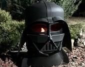 Bio-fireplace-Darth Vader, Fire Pit,   Fire Bowl, Bioethanol,  -home decor-Star Wars-Darth Vader's Helmet-Metal Art -metal sculpture